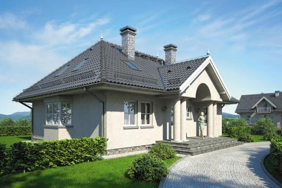 Proiect casa in stil conac boieresc