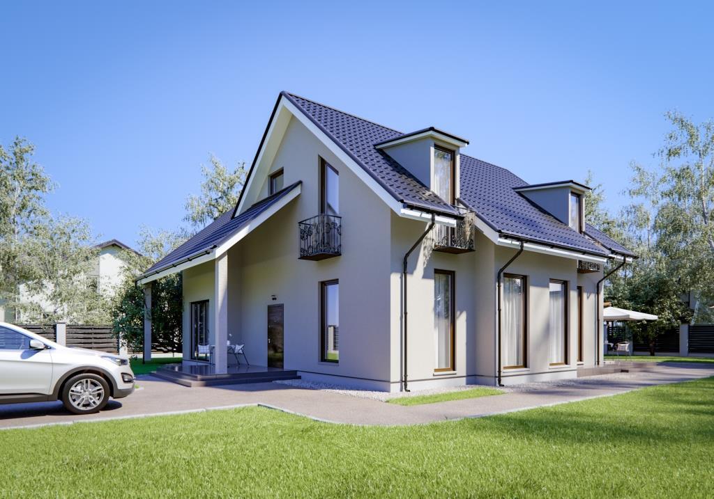 Iata o casa cu mansarda cu 6 dormitoare si 3 bai - are suprafata de 160 mp