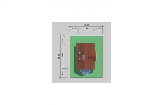 Plan amplasare casa cu mansarda pe teren