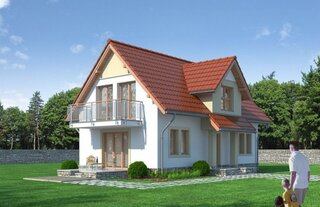Proiect casa cu mansarda de dimensiune mica
