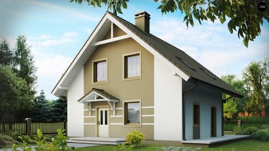 Proiect casa cu mansarda suprafata utila 127 mp