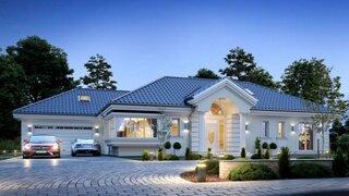 Plan detaliat casa mare cu mansarda si garaj