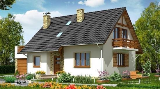 Casa frumoasa cu mansarda