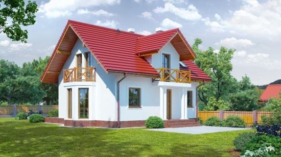 Casa de 93 mp cu mansarda mica si cocheta dar cu 4 dormitoare si 2 balcoane