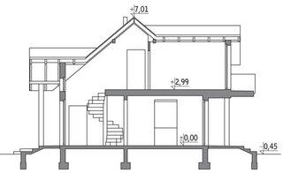 cote inaltime casa cu mansarda 108 mp