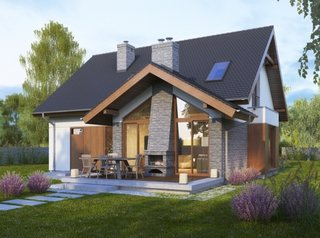 Model de terasa acoperita in prelungirea casei