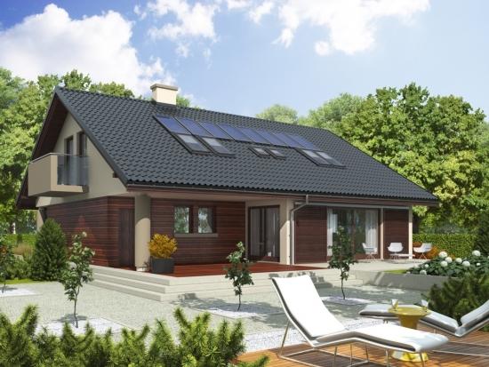 Proiect de casa cu 5 dormitoare - P+M - pentru familii numeroase