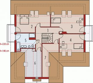 Proiect de casa cu trei dormitoare la mansarda.jpg