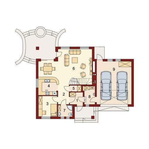 Plan camere interioare parter