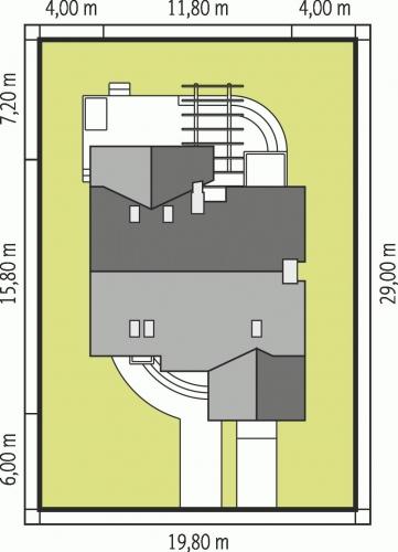 Proiect casa cu latime de 15.80 metri
