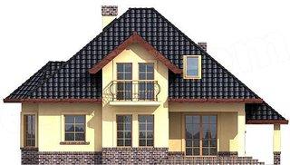 Casa cu mansarda dimensiune medie