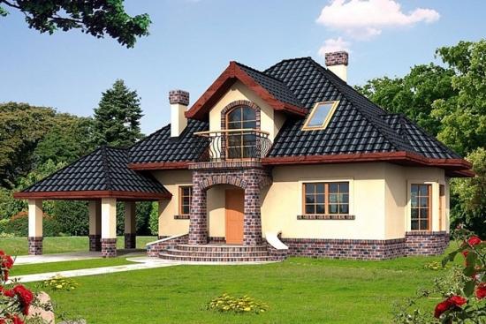 Casa cu mansarda si lucarna