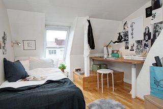 Amenajare dormitor la mansarda