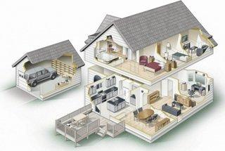 Compartimentare casa cu mansarda si garaj
