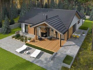 Casa cu parter si terasa in spate