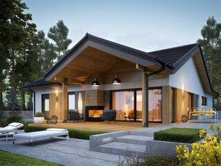 Casa cu parter si terasa perfecta pentru orice familie