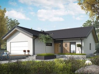 Casa cu terasa si garaj proiect superb