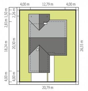 Cote dimensiuni pozitionare pe teren casa cu parter