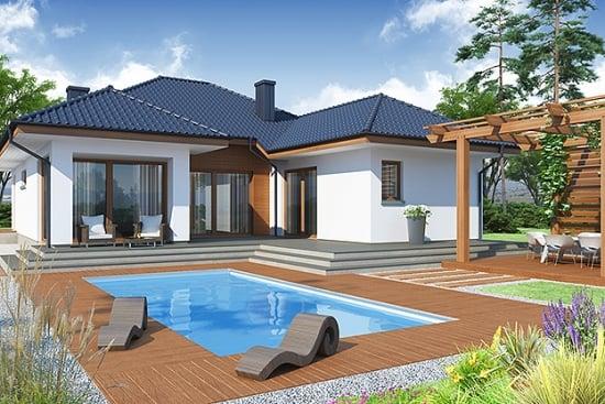 O casa doar cu parter pentru o familie cu 4 membri - proiectul detaliat