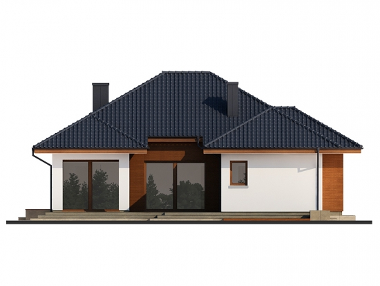 Schita 3 D front lateral casa