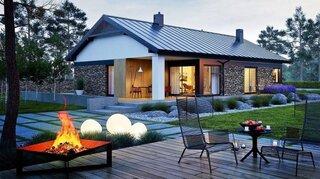 Casa cu parter si accente rustice moderne