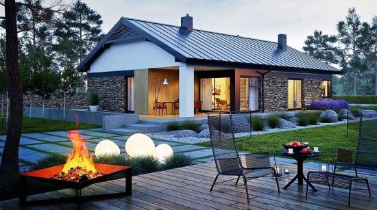 Cea mai frumoasa casa cu parter: Proiect cu note rustice moderne + planuri si poze de interior-exterior