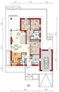 Casa parter cu 3 dormitoare living si bucatarie inchisa