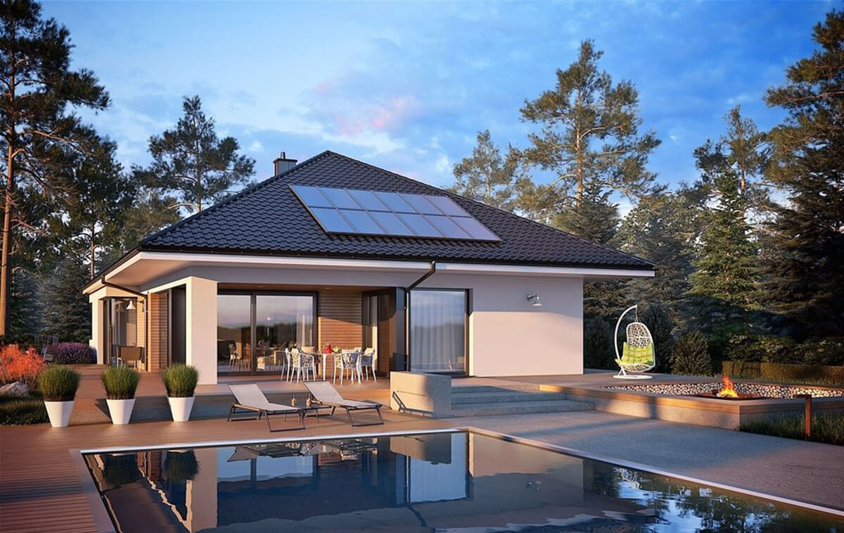 Casa cu piscina exterioara