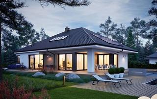 Casa moderna doar cu parter si 3 dormitoare