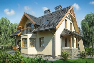 Casa cu intrare cu acoperis
