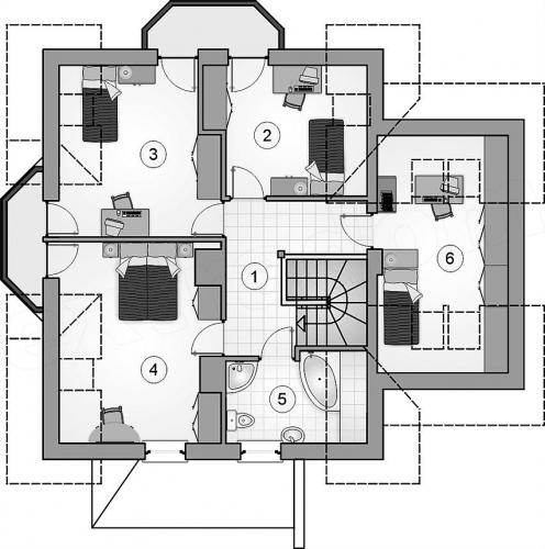 Mansarda cu 4 dormitoare