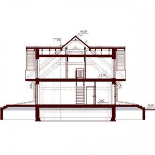Plan vertical casa cu garaj dublu