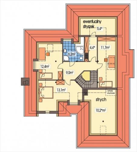 Plan mansarda casa mare cu garaj