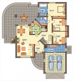 Plan parter casa mare cu mansarda