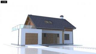 Casa cu garaj si terasa la mansarda