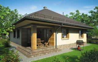Casa cu terasa mica in spate