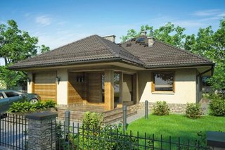 Casa cu trei dormitoare la parter