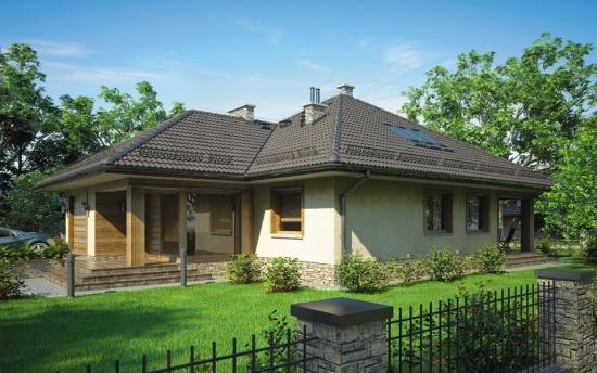 Casa mica si moderna cu pod inaltat