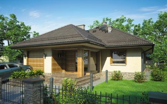 Fatada casa placata cu panouri imitatie lemn