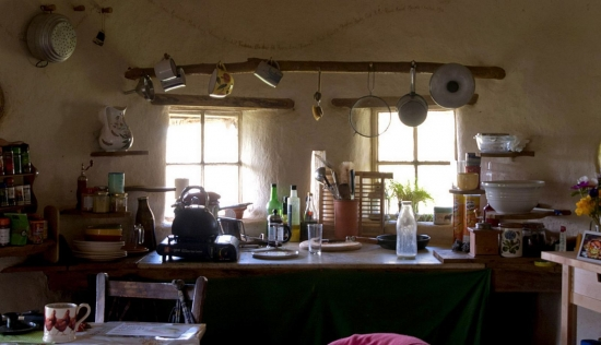 bucatarie casa din pamant
