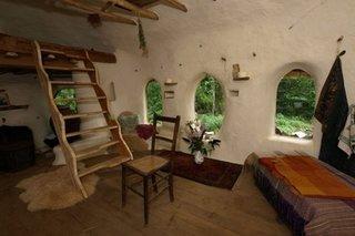 Interior casa ecologica de 30 mp