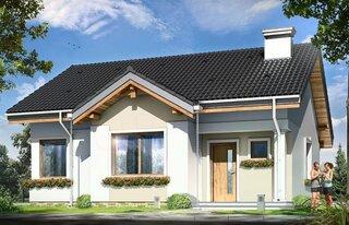 Casa mica simpla cu suprafata utila 64 metri