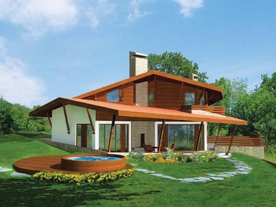 Proiect de casa de vacanta cu etaj si subsol