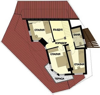 Plan etaj casa de vacanta