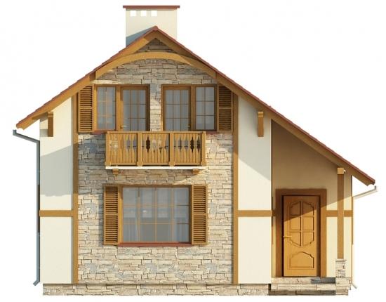 Casa de vacanta cu balcon la mansarda