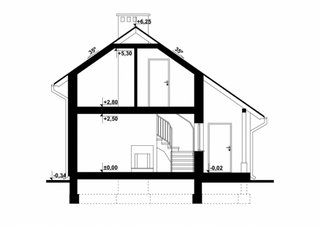 Plan vertical casa de vacanta mica