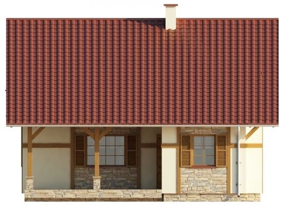 Vedere fata casa de vacanta cu mansarda
