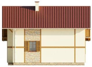 Vedere laterala casa mica de vacanta
