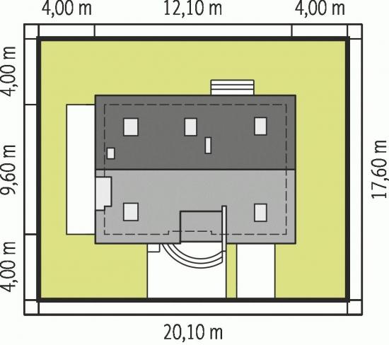 Casa cu amprenta de 9.60 pe 12.10 metri