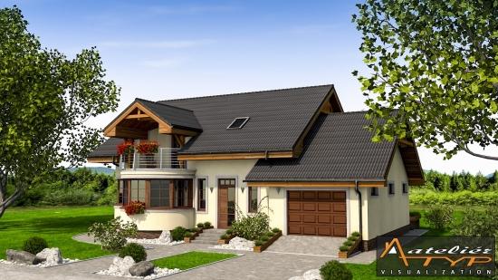o casa de vis cu 4 dormitoare mansarda si garaj proiect